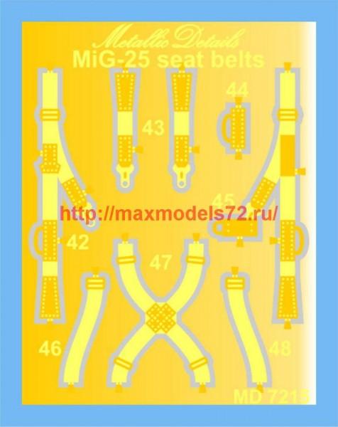 MD7215   MiG-25. Seat belts (thumb45916)