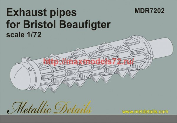 MDR7202   Bristol Beaufigter. Exhaust pipes (thumb45952)