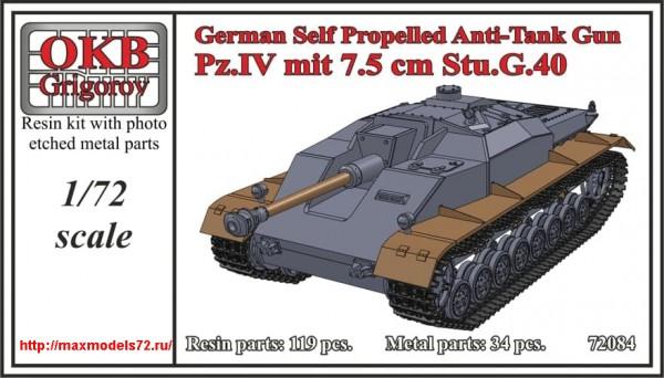 OKBV72084   German Self Propelled Anti-Tank Gun Pz.IV mit 7.5 cm Stu.G.40 (thumb49027)