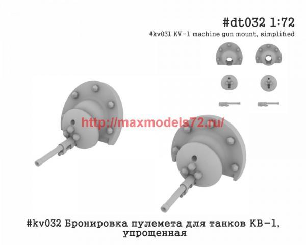 Penkv032 Бронировка пулемета для танков КВ-1, упрощенная (thumb42886)
