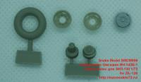 SMCM006   Набор колес Омскшин ИН-142Б-1 Набор колес для ЗИЛ-130 1/72  for ZIL-130 (attach1 42249)