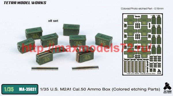 TetraMA-35031   1/35 U.S. M2A1 Cal.50 Ammo Box (Colored etching Parts) (thumb42757)