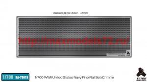 TetraSA-70015   1/700 WWII United States Navy Fine Rail Set (0.1mm thickness) (thumb42770)