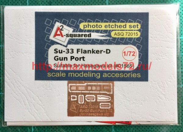 A-squared72015   Su-33 gun port (photoetched detailing set) for Hasegawa kit (thumb49803)