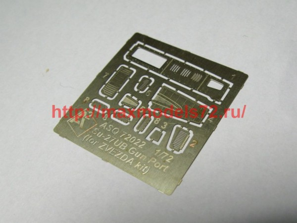 A-squared72022   Su-27UB gun port (photoetched detailing set) for Zvezda kit (thumb49867)