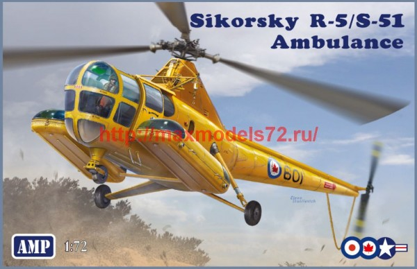 AMP72012   SikorskyR-5/S-51  USAF ambulance RCA, USAF, RAF (thumb48603)