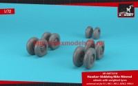 AR AW72418   1/72 BAe «Nimrod» wheels w/ weighted tires (attach4 47765)