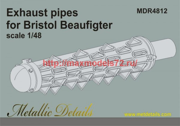 MDR4812   Bristol Beaufigter. Exhaust pipes (Tamiya) (thumb47063)