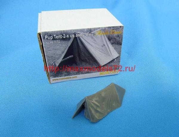 MDR7231   U.S. WWII Pup tent 2 x (thumb46106)