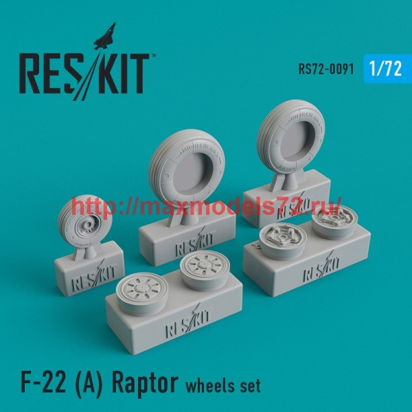 RS72-0091   F-22A Raptor wheels set (thumb44117)