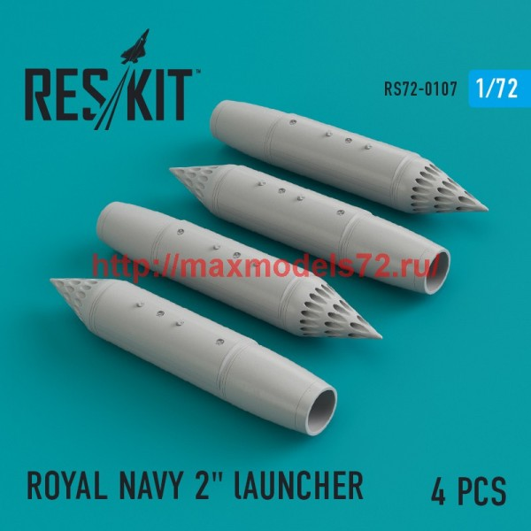 "RS72-0107   ROYAL NAVY 2"" lAUNCHER  (4 pcs) Phantom, Harrier, Sea Vixen, Buccaneer (thumb44152)"