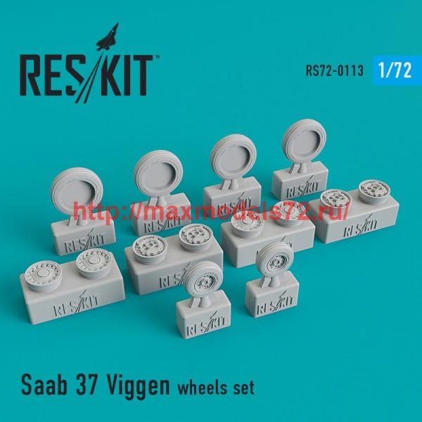 RS72-0113   Saab 37 Viggen wheels set (thumb44165)