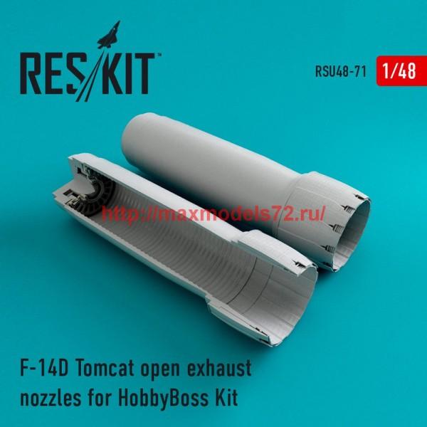 RSU48-0071   F-14D Tomcat open exhaust nozzles for HobbyBoss Kit (thumb44557)