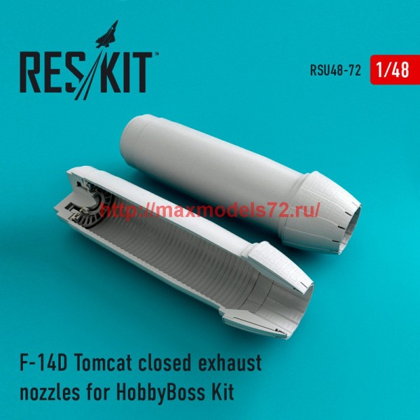RSU48-0072   F-14D Tomcat closed exhaust nozzles for HobbyBoss Kit (thumb44560)