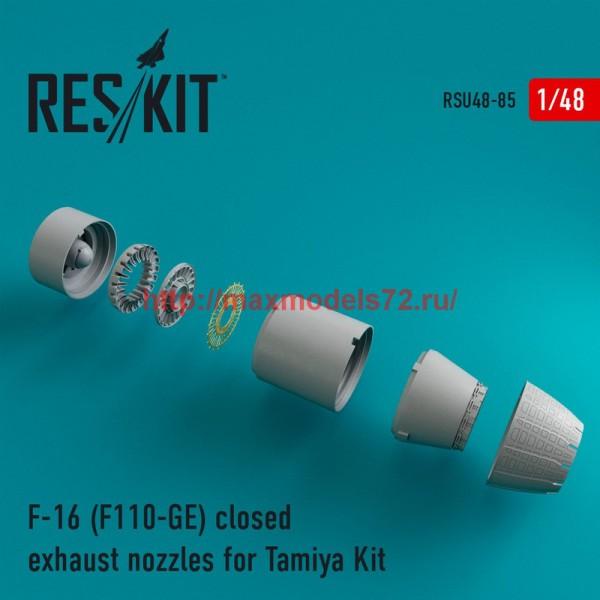 RSU48-0085   F-16 (F110-GE) closed exhaust nozzles for Tamiya Kit (thumb44584)