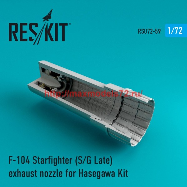 RSU72-0059   F-104 Starfighter (S/G Late) exhaust nozzle for Hasegawa Kit (thumb43914)
