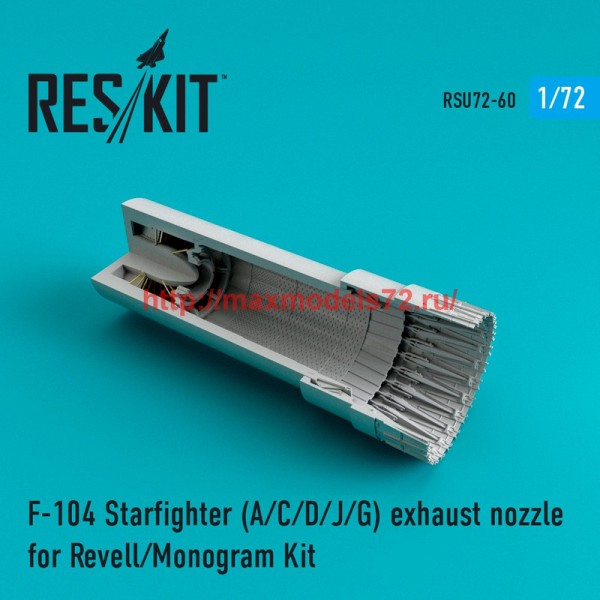 RSU72-0060   F-104 Starfighter (A/C/D/J/G) exhaust nozzle for Revell/Monogram Kit (thumb43917)