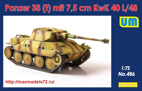 UM486   Panzer38(t) mit 7.5 cm KwK 40L/48 (thumb43340)