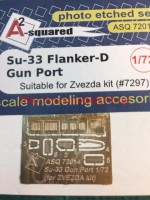 A-squared72014   Su-33 gun port (photoetched detailing set) for Zvezda kit (attach2 45776)