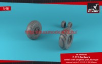 AR AW48320   1/48 F-111 Aardvark late type wheels w/ weighted tires (attach3 47758)
