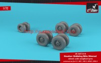 AR AW72418   1/72 BAe «Nimrod» wheels w/ weighted tires (attach3 47765)