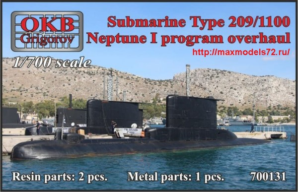 OKBN700131   Submarine Type 209/1100, Neptune I program overhaul (thumb48394)