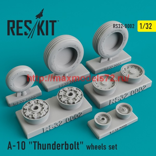 "RS32-0002   Fairchild Republic A-10 ""Thunderbolt"" wheels set (thumb45089)"