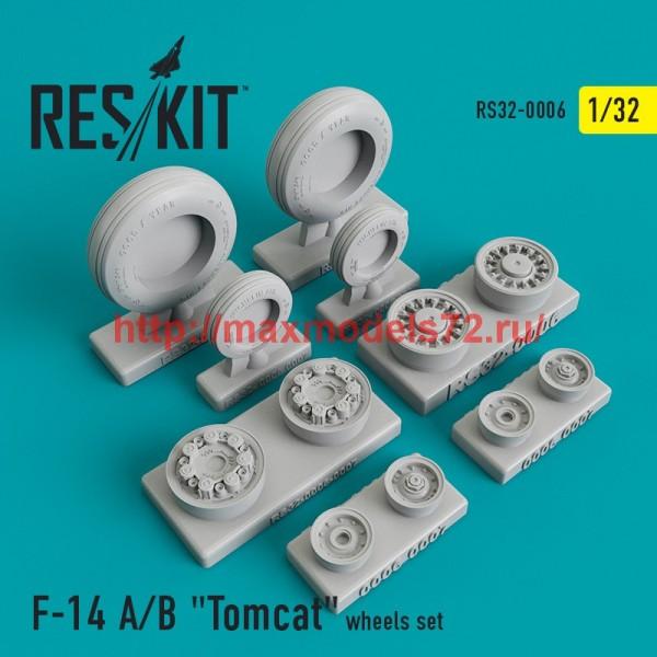 """RS32-0006   Grumman F-14 A/B """"Tomcat""""  wheels set (thumb45094)"""