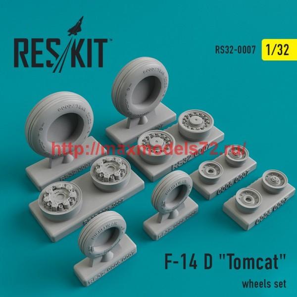 "RS32-0007   Grumman F-14 D ""Tomcat"" wheels set (thumb45097)"