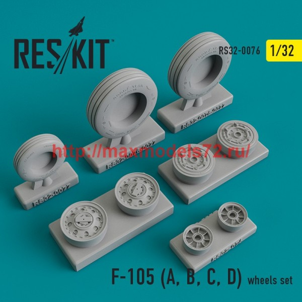 RS32-0076   F-105 (A, B, C, D)  wheels set (thumb45126)