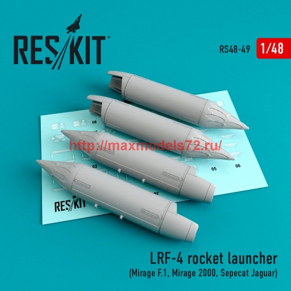 RS48-0049   LRF-4 rocket launcher (4 pcs) (Mirage F.1, Mirage 2000, Sepecat Jaguar) (thumb44692)