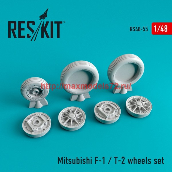 RS48-0055   Mitsubishi F-1 / T-2 wheels set (thumb44704)