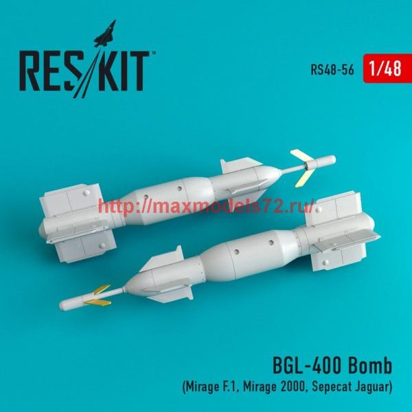 RS48-0056   BGL-400 Bomb (2 pcs)  (Mirage F.1, Mirage 2000, Sepecat Jaguar) (thumb44706)