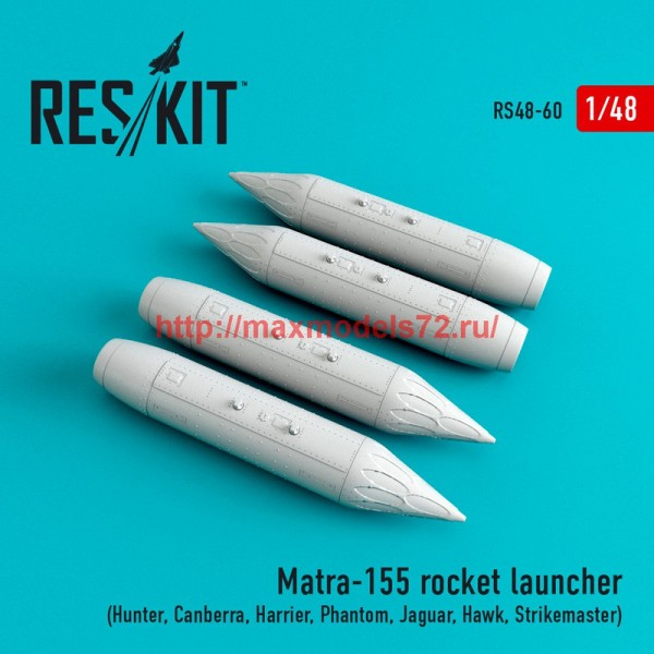RS48-0060   Matra-155 (4 pcs) (Hunter, Canberra, Harrier, Phantom, Jaguar, Hawk, Strikemaster,) (thumb44714)