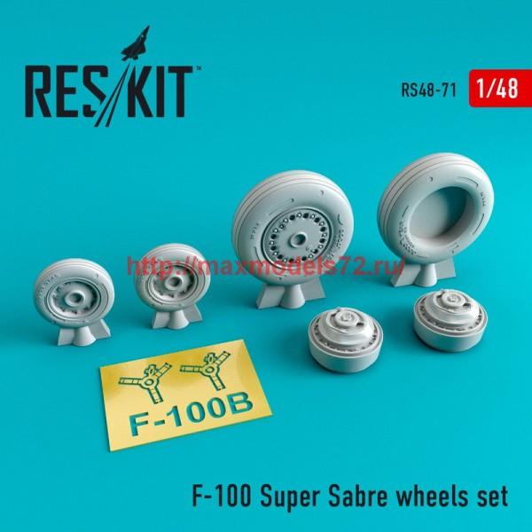 RS48-0071   North American F-100 Super Sabre wheels set (thumb44736)