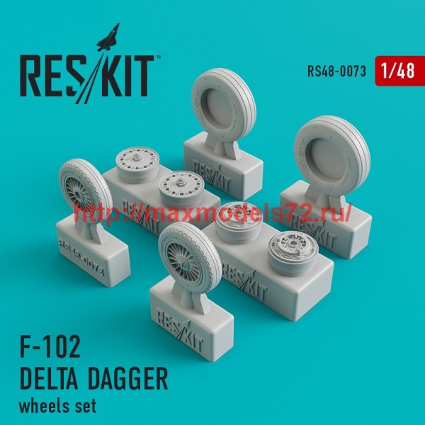 RS48-0073   Convair F-102 Delta Dagger wheels set (thumb44740)