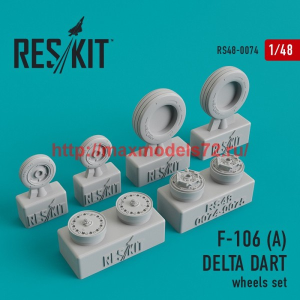 RS48-0074   Convair F-106 (А) Delta Dart wheels set (thumb44742)