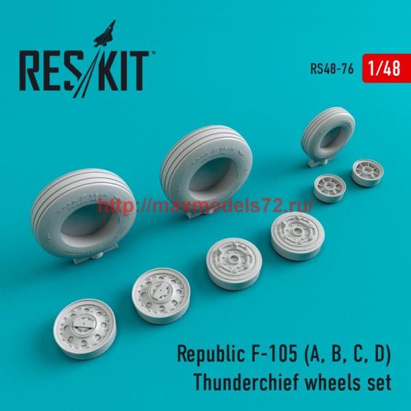 RS48-0076   Republic F-105 (A, B, C, D) Thunderchief wheels set (thumb44746)