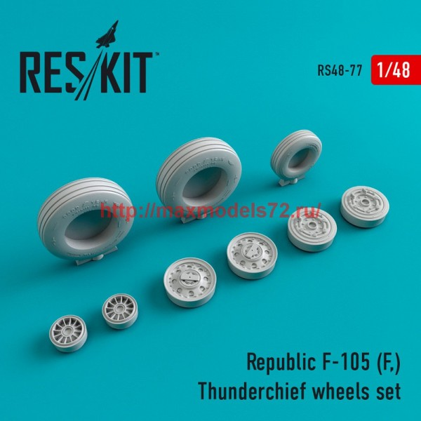RS48-0077   Republic F-105 (F,) Thunderchief wheels set (thumb44748)