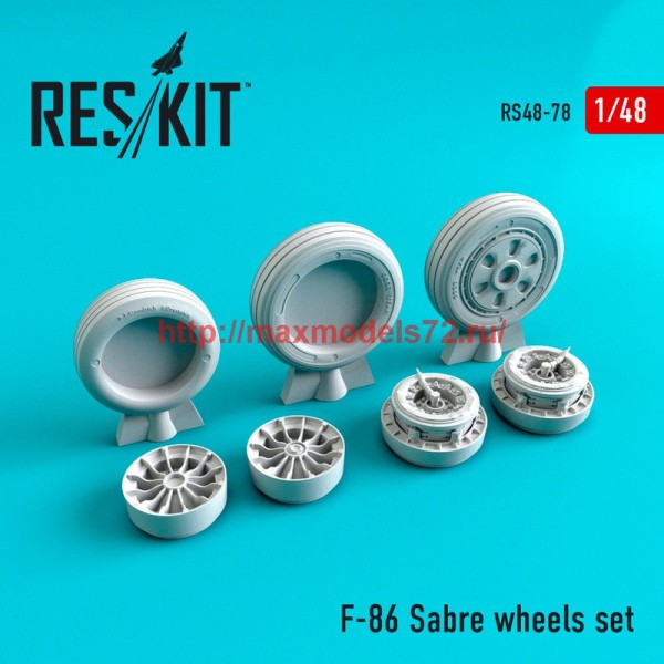 RS48-0078   North American F-86 Sabre wheels set (thumb44750)