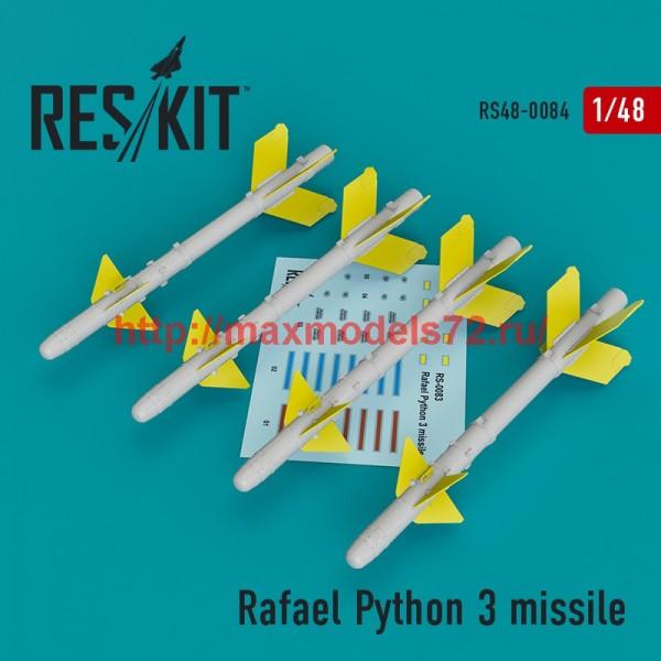 RS48-0084   Rafael Python 3 missile (4 pcs)  (IAI Kfir, F-15C/I, F-16I, JF-17, MiG-211, Mirage F.1) (thumb44760)
