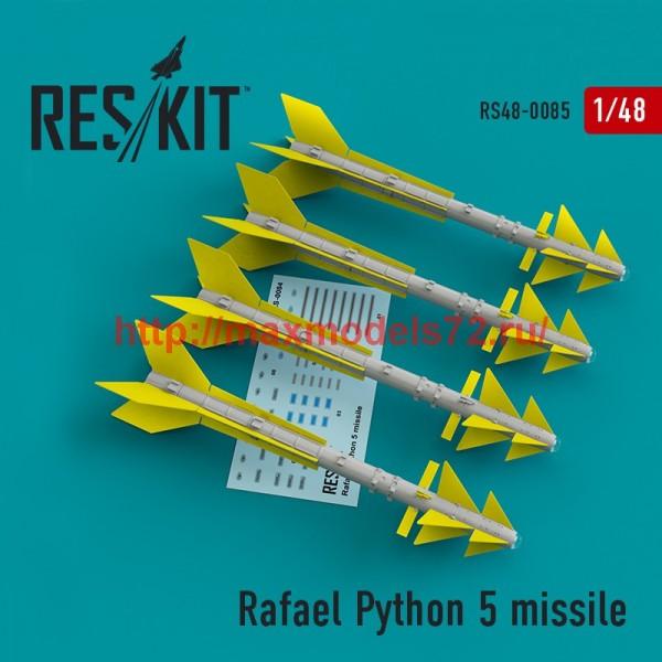 RS48-0085   Rafael Python 5 missile (4 pcs)  (F-16I, F-16D, F-15I Mirage F.1) (thumb44762)