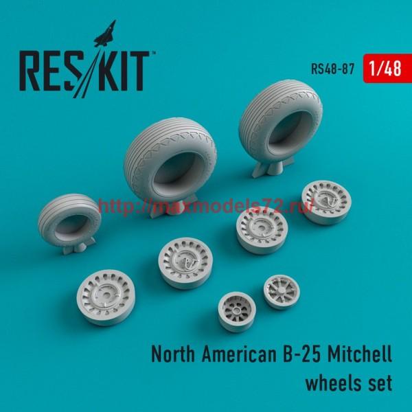 RS48-0087   North American B-25 Mitchell wheels set (thumb44766)