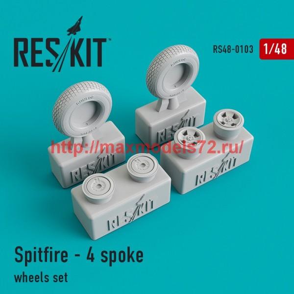 RS48-0103   Spitfire - 4 spoke wheels set (thumb44800)