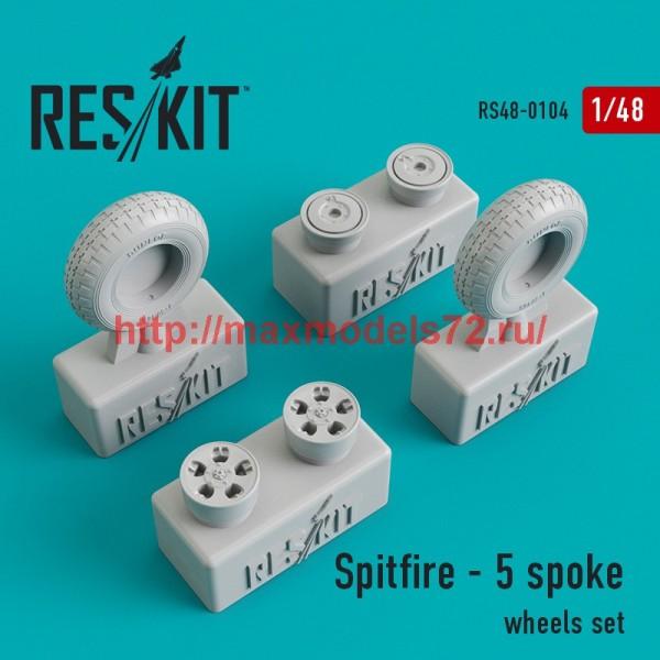 RS48-0104   Spitfire - 5 spoke wheels set (thumb44802)