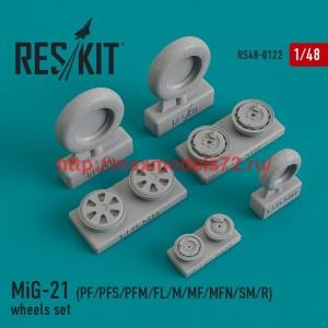 RS48-0122   MiG-21 (PF/PFS/PFM/FL/M/MF/MFN/SM/R) wheels set (thumb44841)