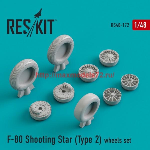 RS48-0172   F-80 Shooting Star (Type 2) wheels set (thumb44935)