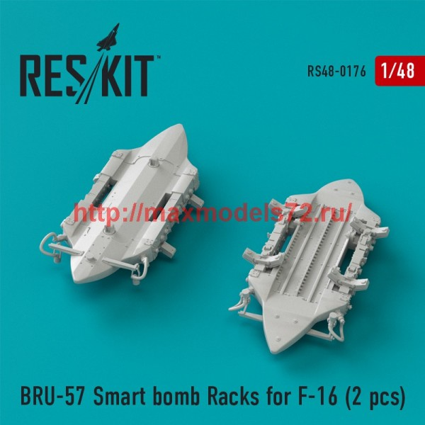 RS48-0176   BRU-57 Smart bomb Racks for F-16 (2 pcs) (thumb44943)