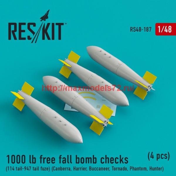 RS48-0187   1000 lb free fall bomb checks (114 tail-947 tail fuze) (Canberra, Harrier, Buccaneer, Tornado, Phantom, Hunter) (4 pcs) (thumb44953)