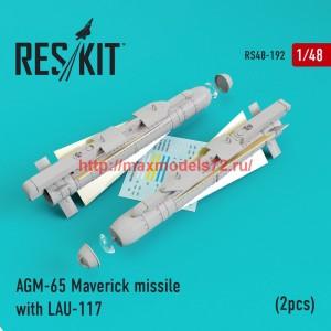 RS48-0192   AGM-65 Maverick missile with LAU-117  (2pcs)AV-8b, A-10, F-16, F-18) (thumb44963)